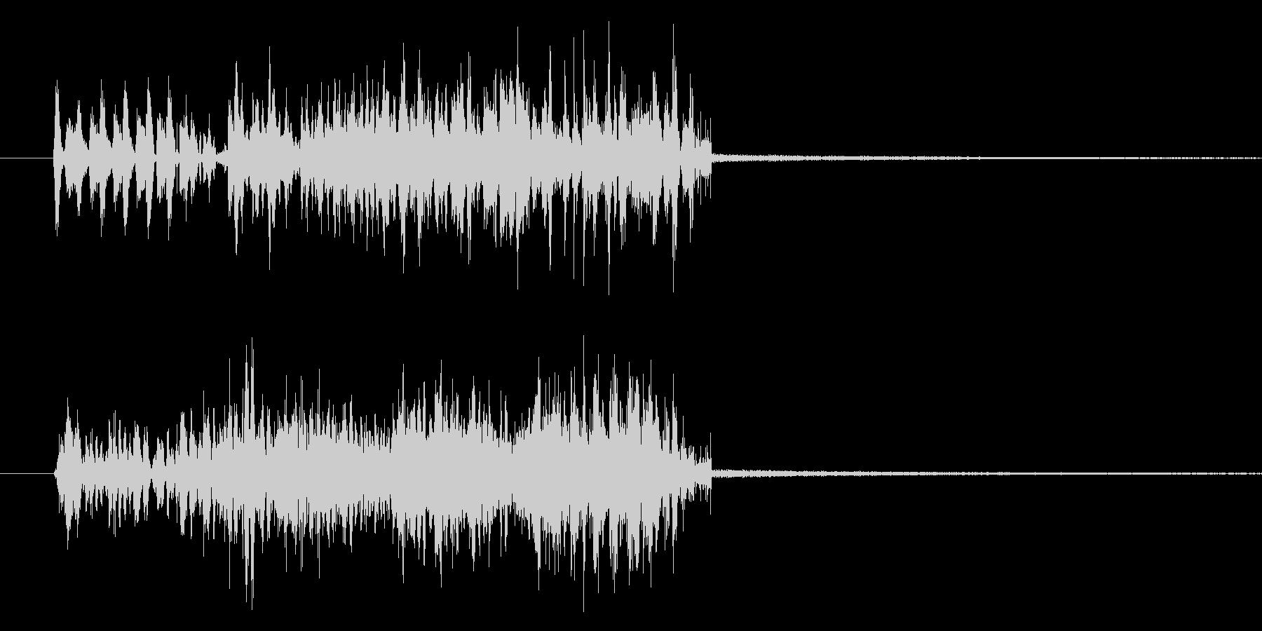 トランジション テロップ音 ノイズの未再生の波形