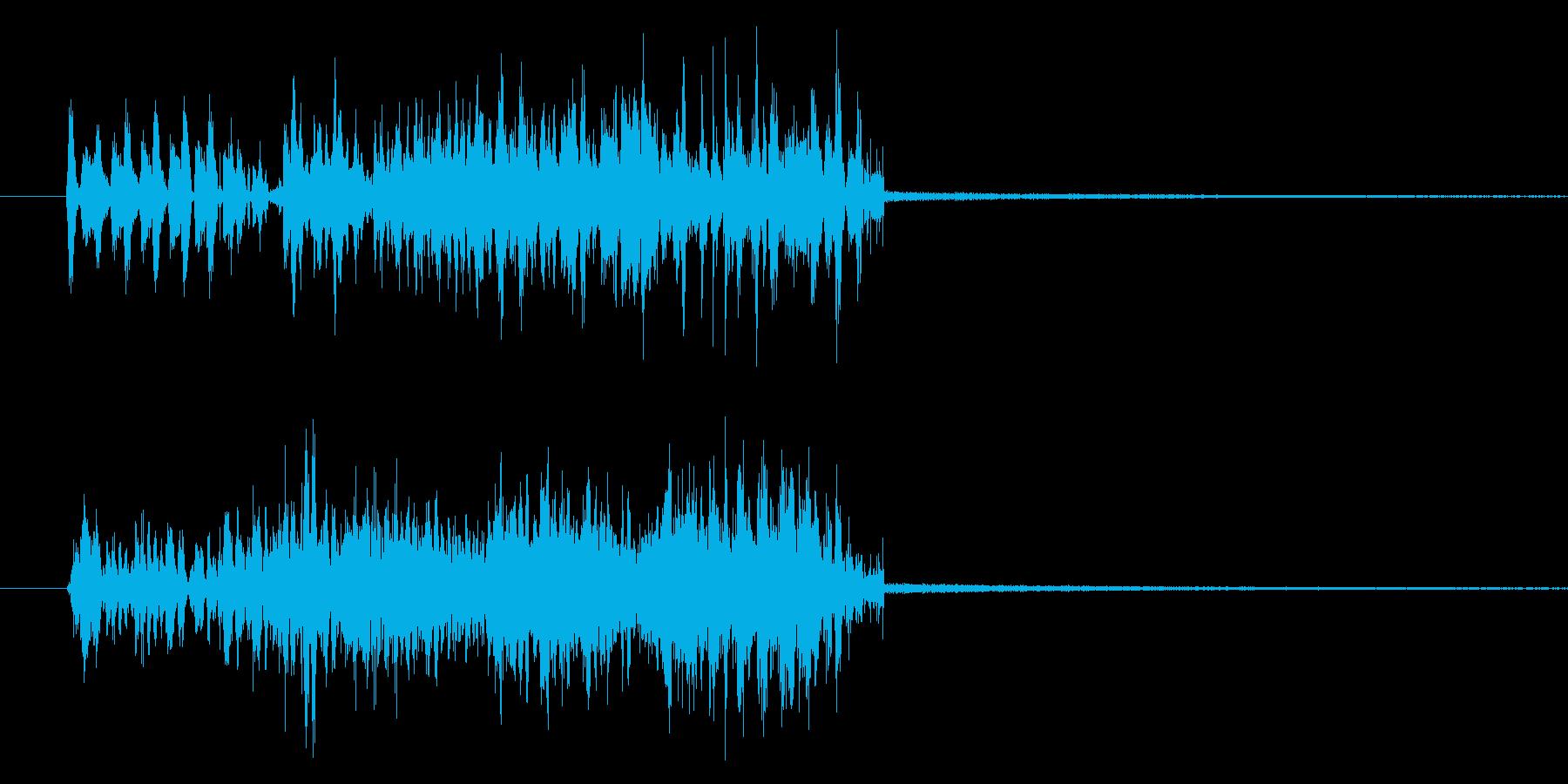 トランジション テロップ音 ノイズの再生済みの波形