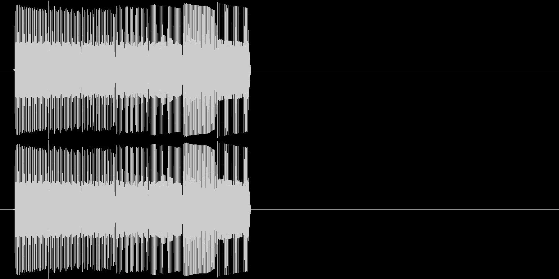 テレレレン(ダウンする音)の未再生の波形