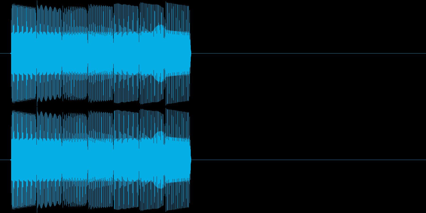 テレレレン(ダウンする音)の再生済みの波形