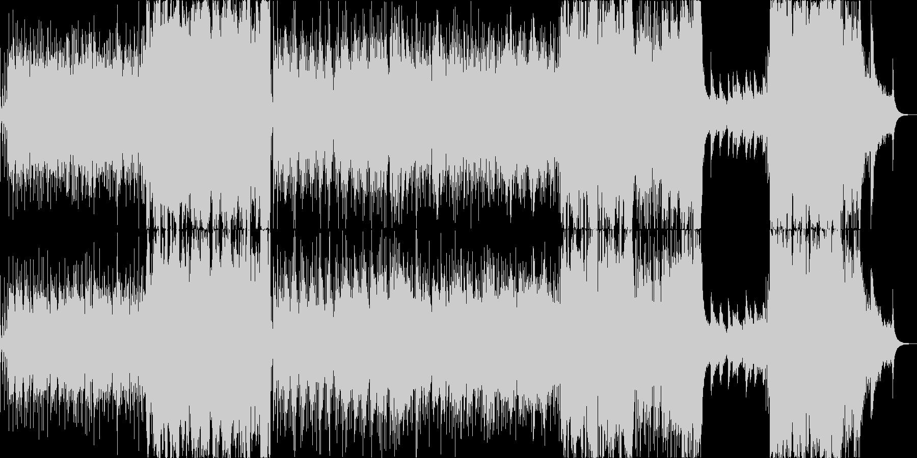 レトロな雰囲気のストリングス曲の未再生の波形