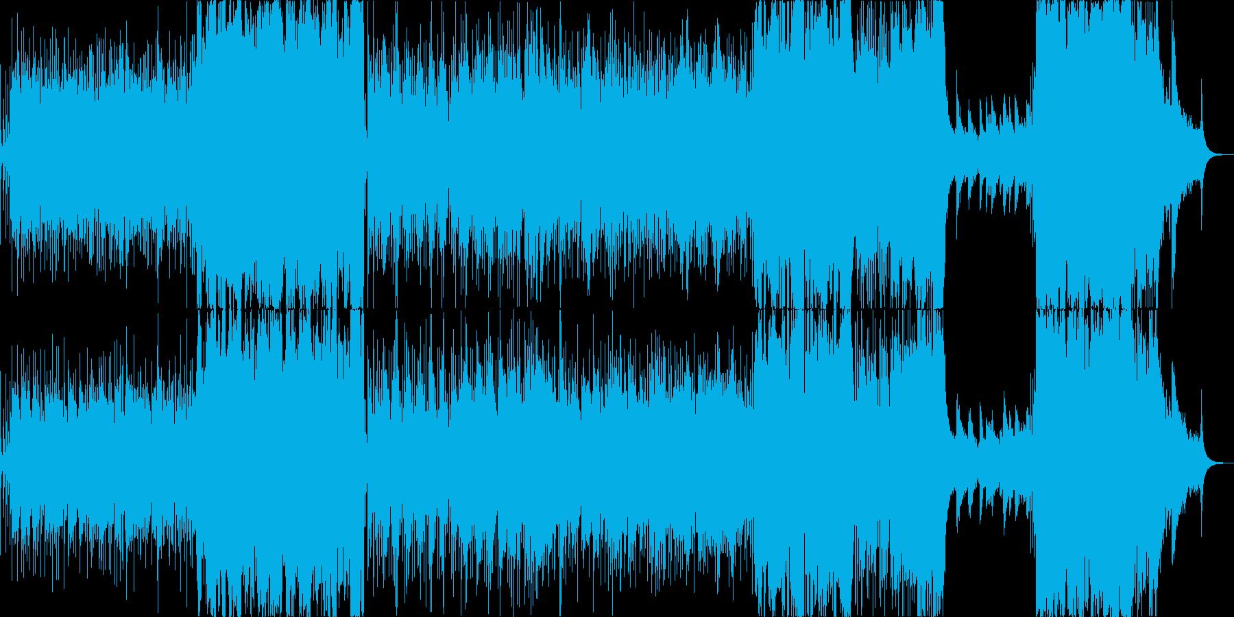 レトロな雰囲気のストリングス曲の再生済みの波形