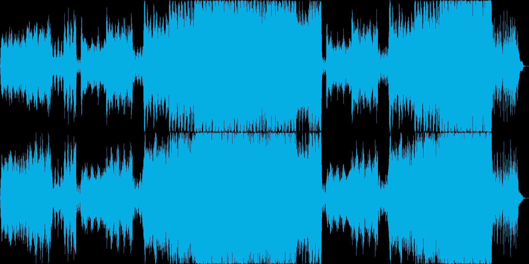 ほのぼのしたオーケストラの再生済みの波形