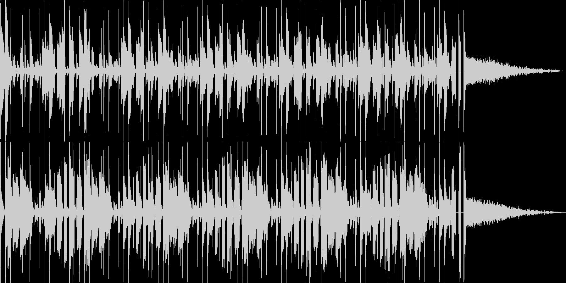 多用途な動画イン・アウトロ用ジングル3の未再生の波形