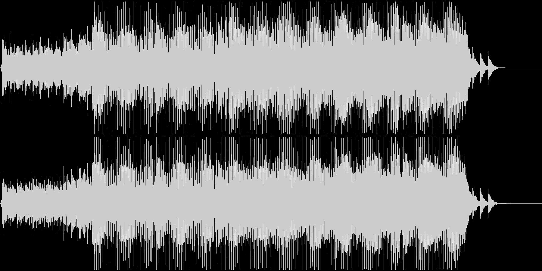 緊張、疾走感あるシーンを想定のBGMの未再生の波形