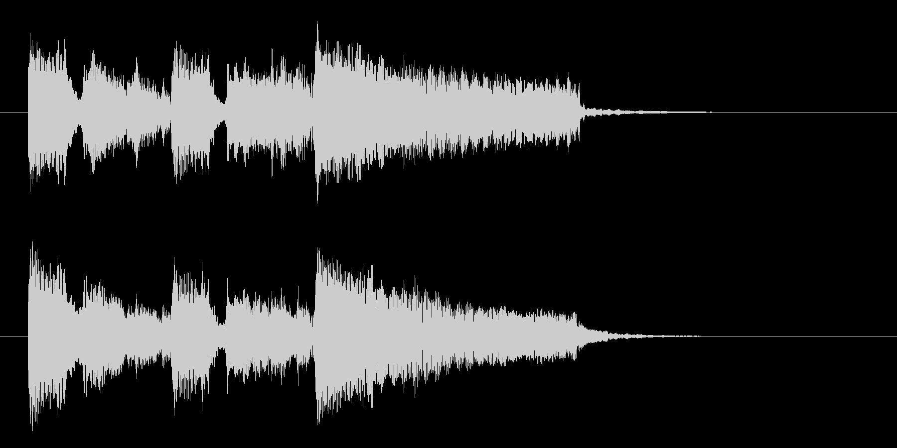 明るく軽やかな短めのアップテンポな曲の未再生の波形
