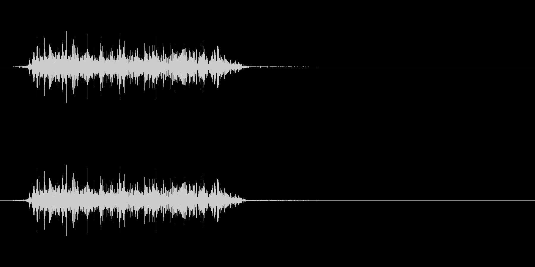 怪獣 鳴き声 グアアアオの未再生の波形