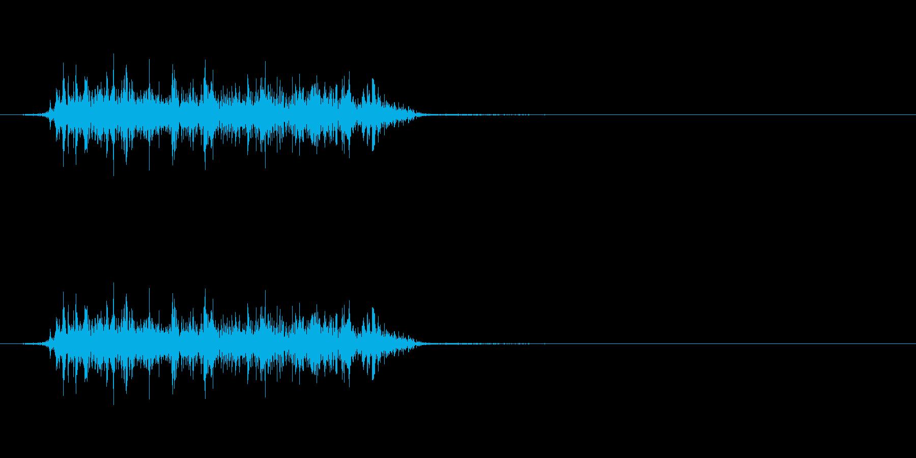 怪獣 鳴き声 グアアアオの再生済みの波形