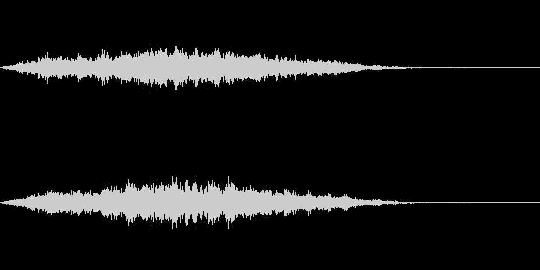 スペイシーな空間音 Bメジャーの未再生の波形