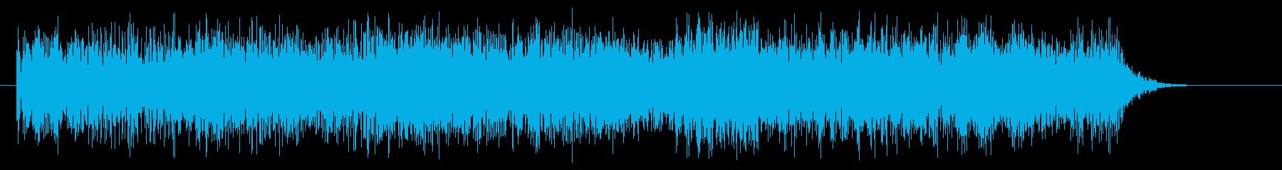 ヘヴィーメタル クールなキメのフレーズの再生済みの波形