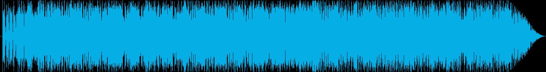 熱いギターロック(アクションゲーム向け)の再生済みの波形