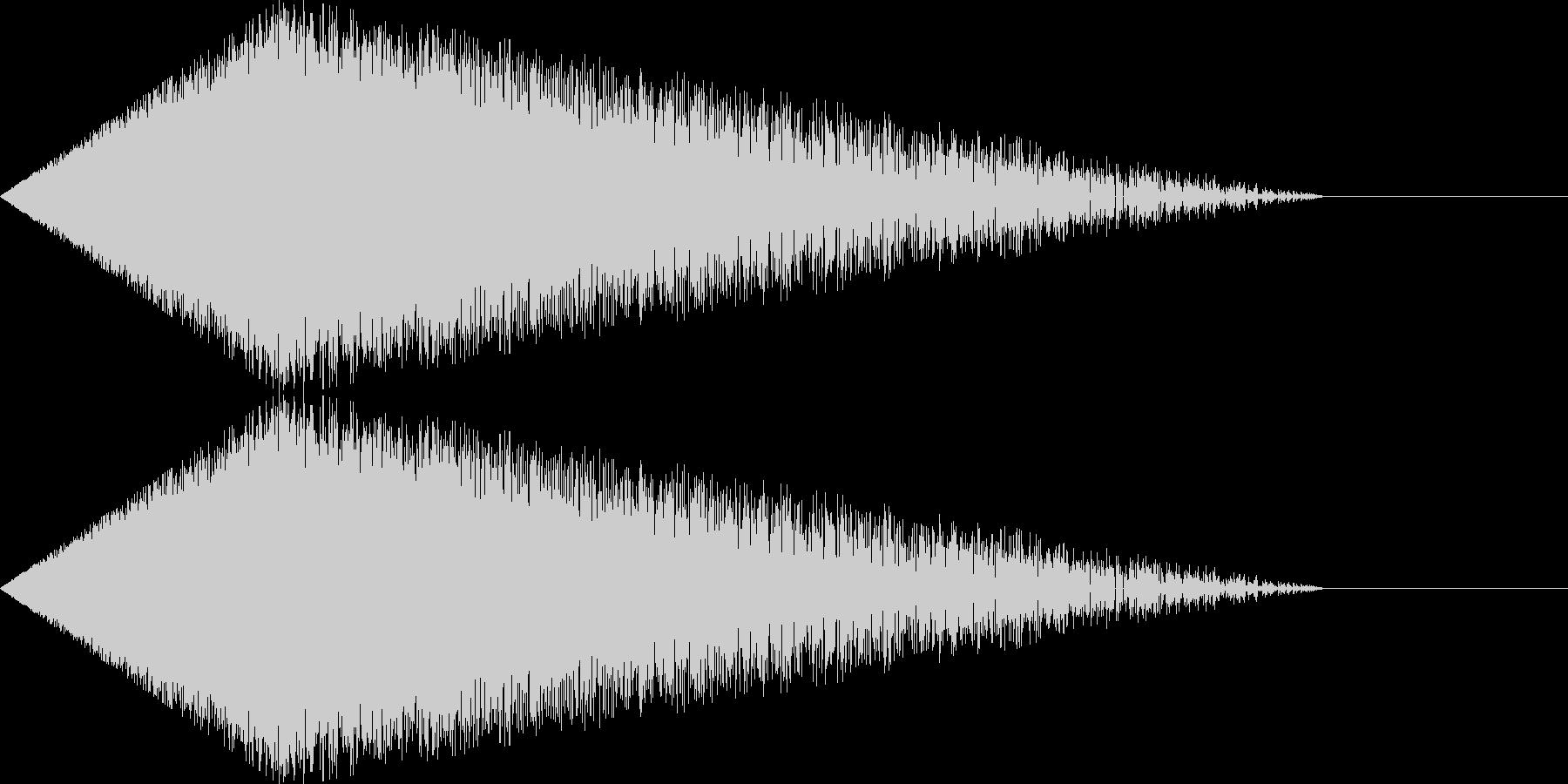[シュワー]シューティング/ワープ01の未再生の波形