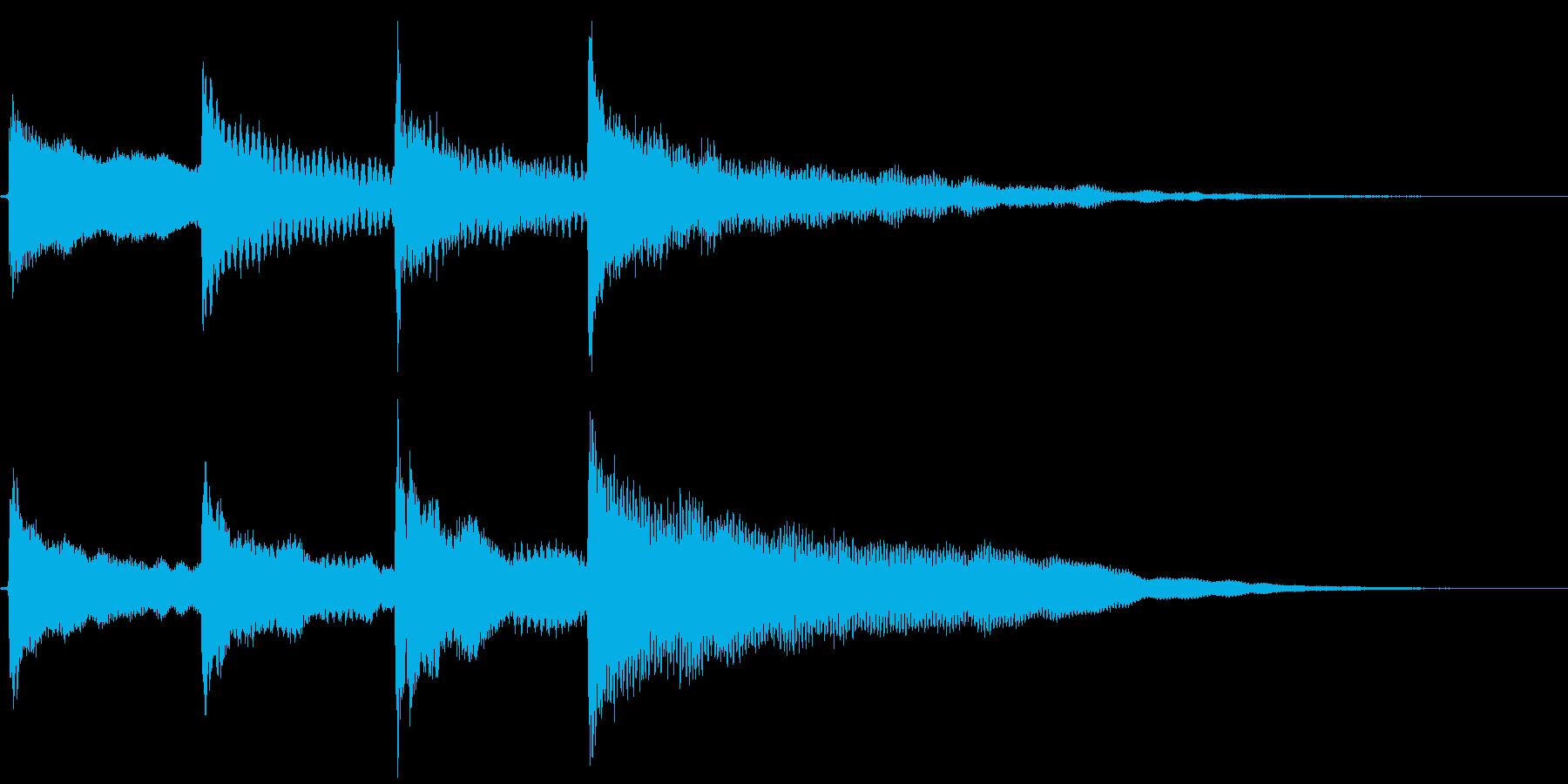 放送開始チャイムの再生済みの波形