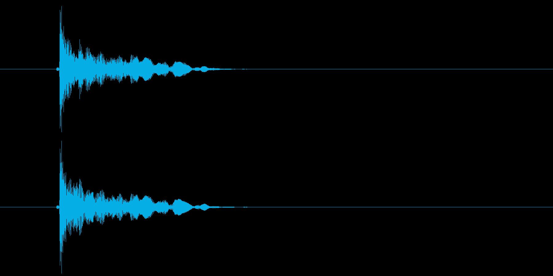 ポン(破裂音、切れる音、はじく音)の再生済みの波形