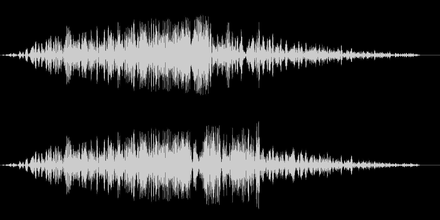 シュイビシューン(通過の音色)の未再生の波形