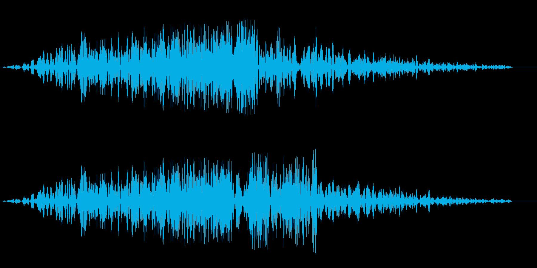 シュイビシューン(通過の音色)の再生済みの波形