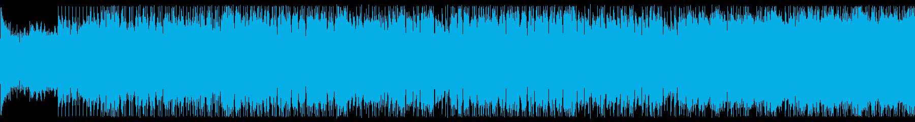 アクション要素のあるシーンでの再生済みの波形