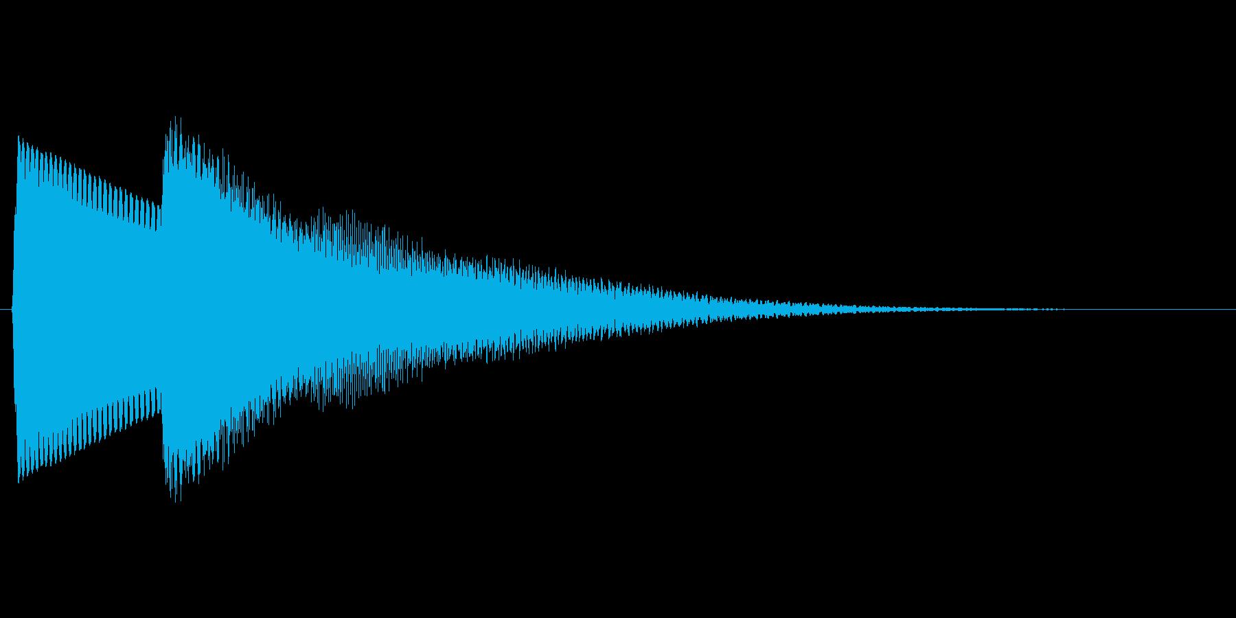 【落下音】ひゅ〜(コミカル)の再生済みの波形