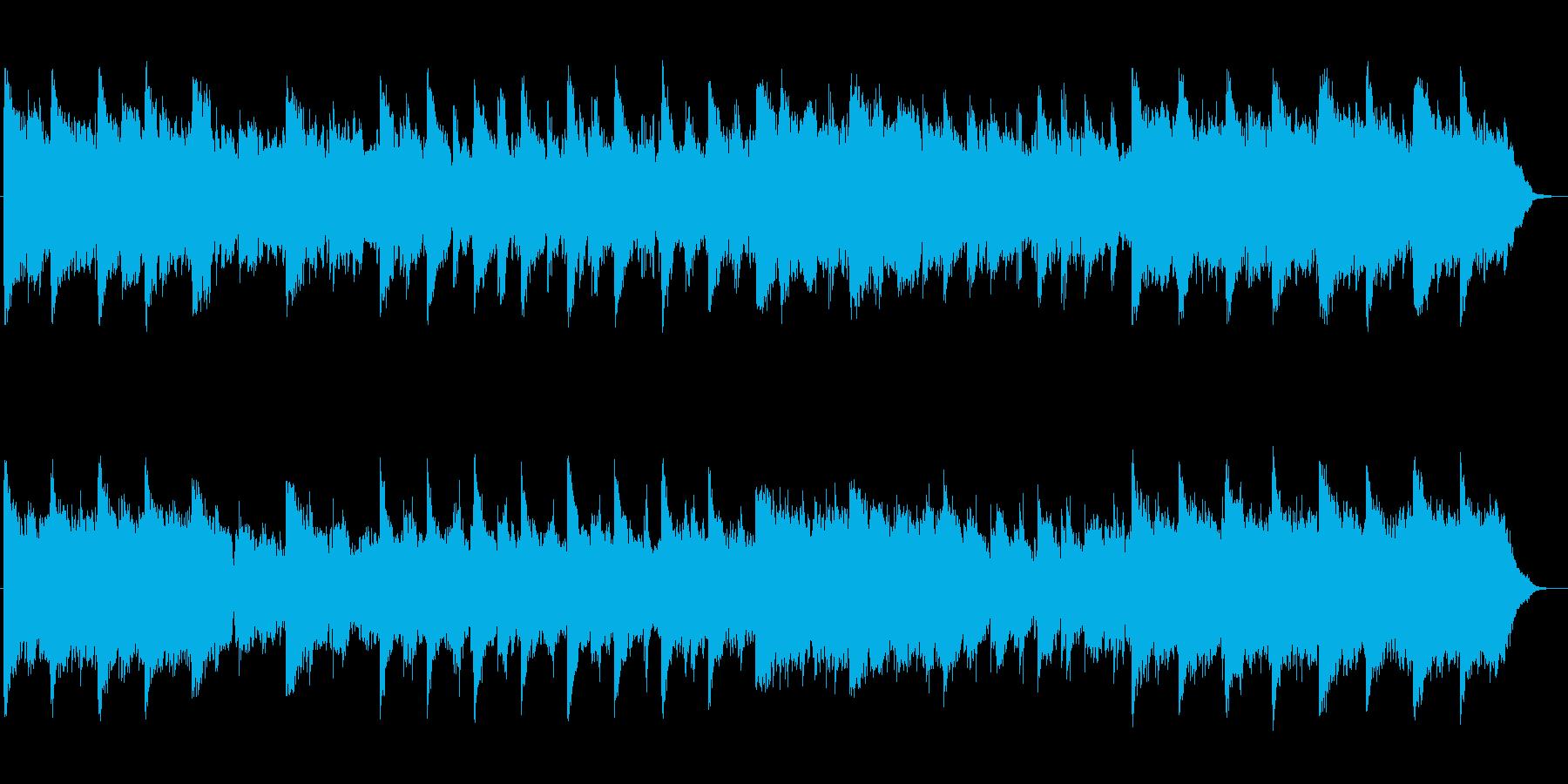 しっとりとしたシンセサイザーのテクノの再生済みの波形