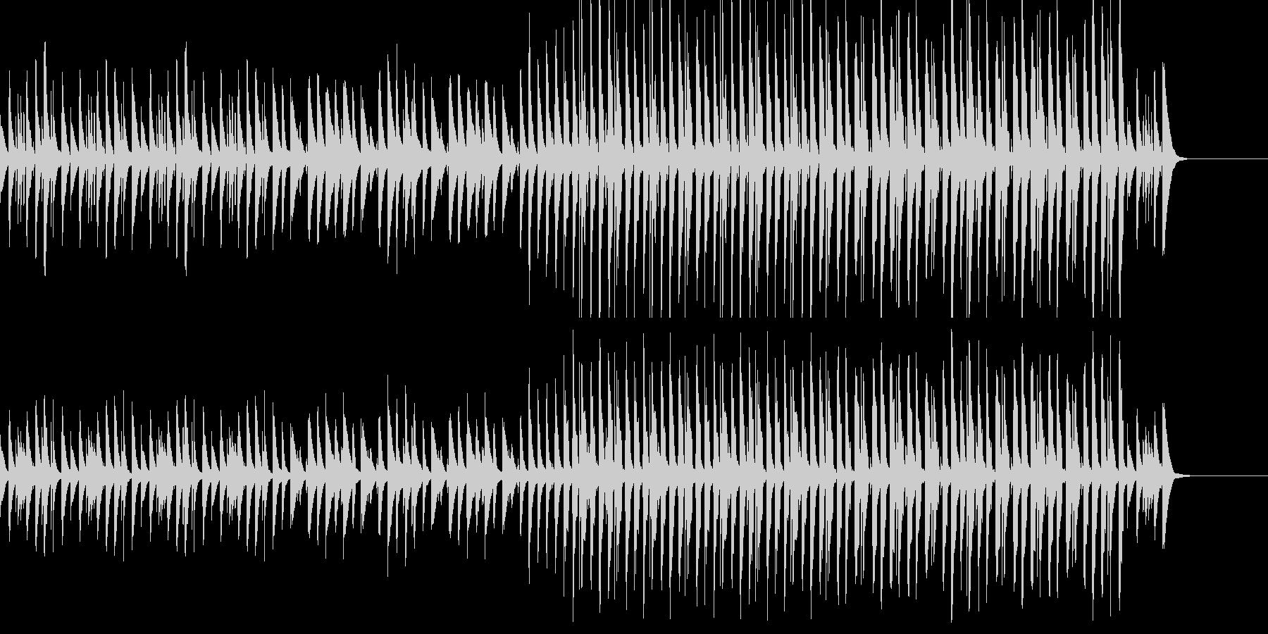 かわいらしい日常BGMの未再生の波形