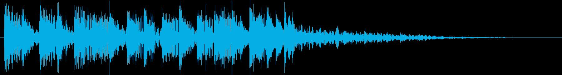 エレクトリックなカウントダウンのジングルの再生済みの波形