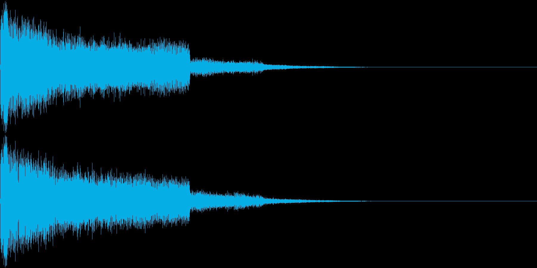 レーザー ピキュン ズキュン キューンの再生済みの波形