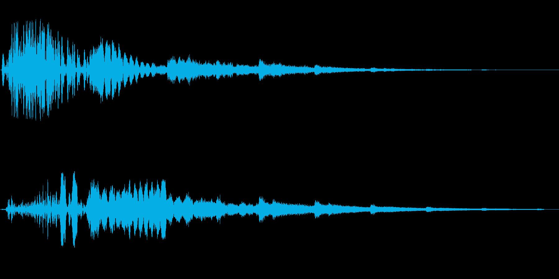 キラキラ(風が唸り輝くような音)の再生済みの波形