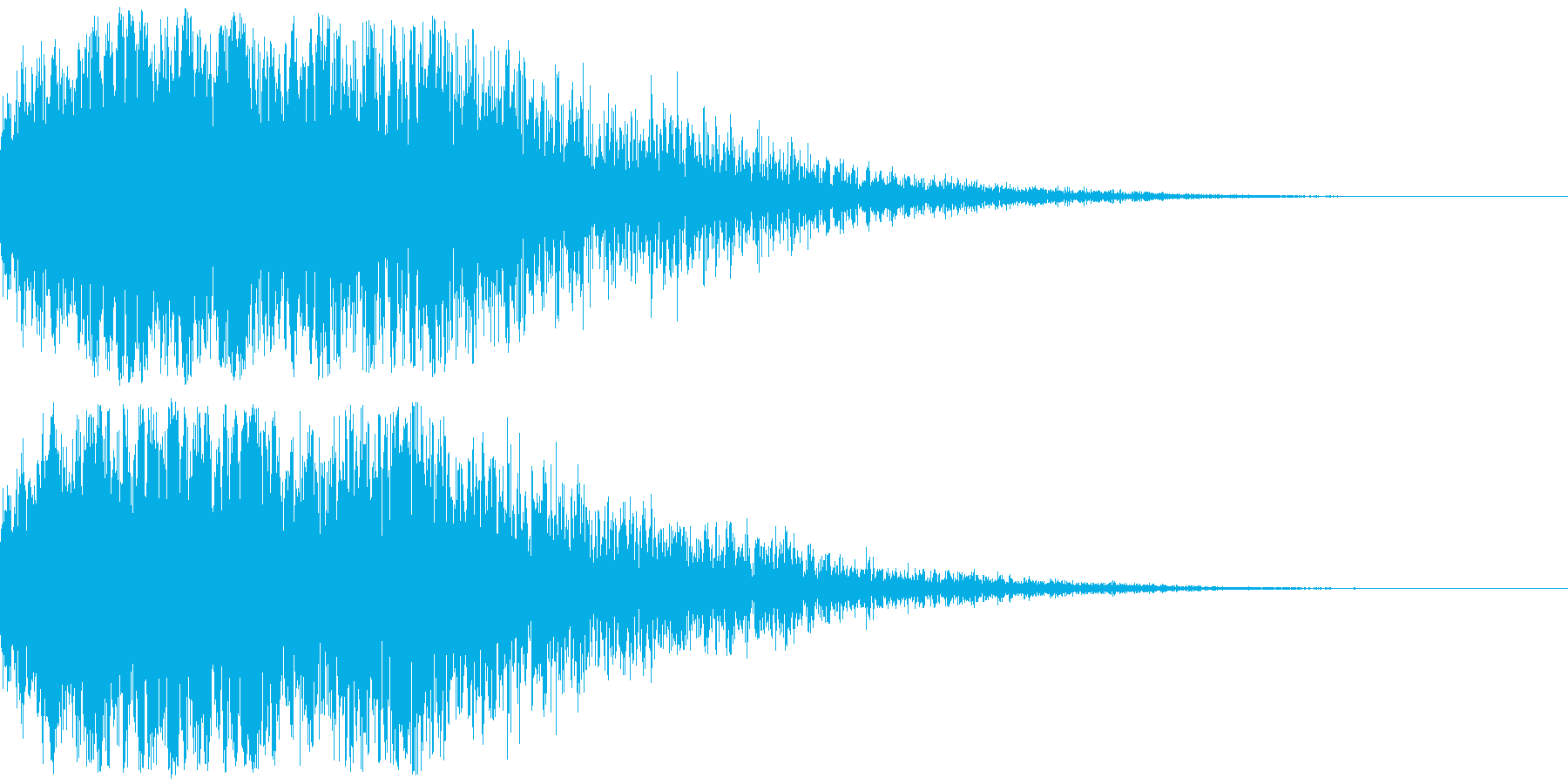 恐怖、驚きの印象付け効果(インパクト音)の再生済みの波形