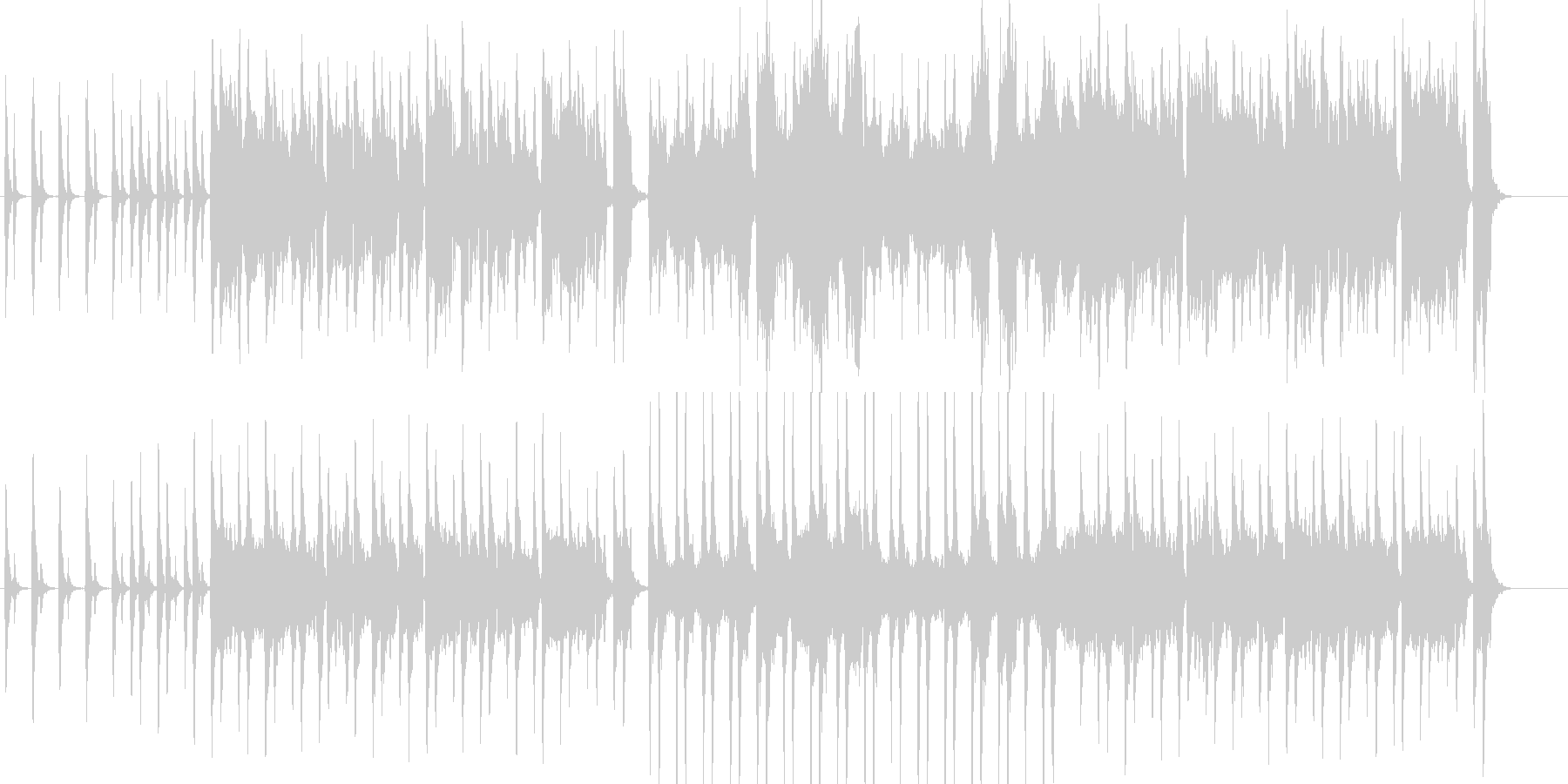ほのぼのとしたストリングスBGMの未再生の波形