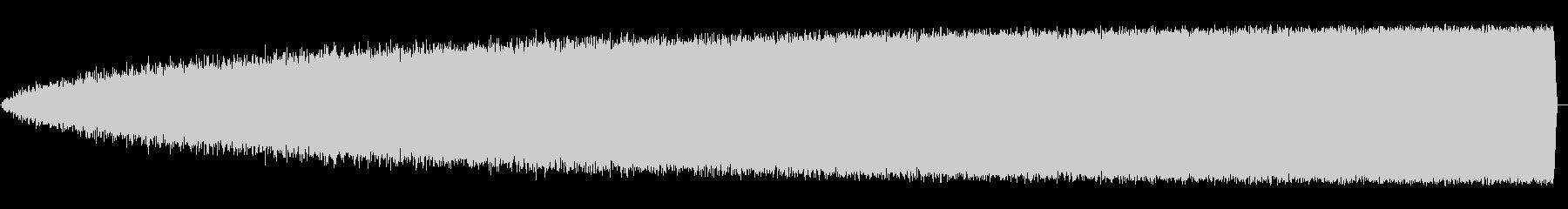 ザー(ラジオなどのノイズ音)の未再生の波形