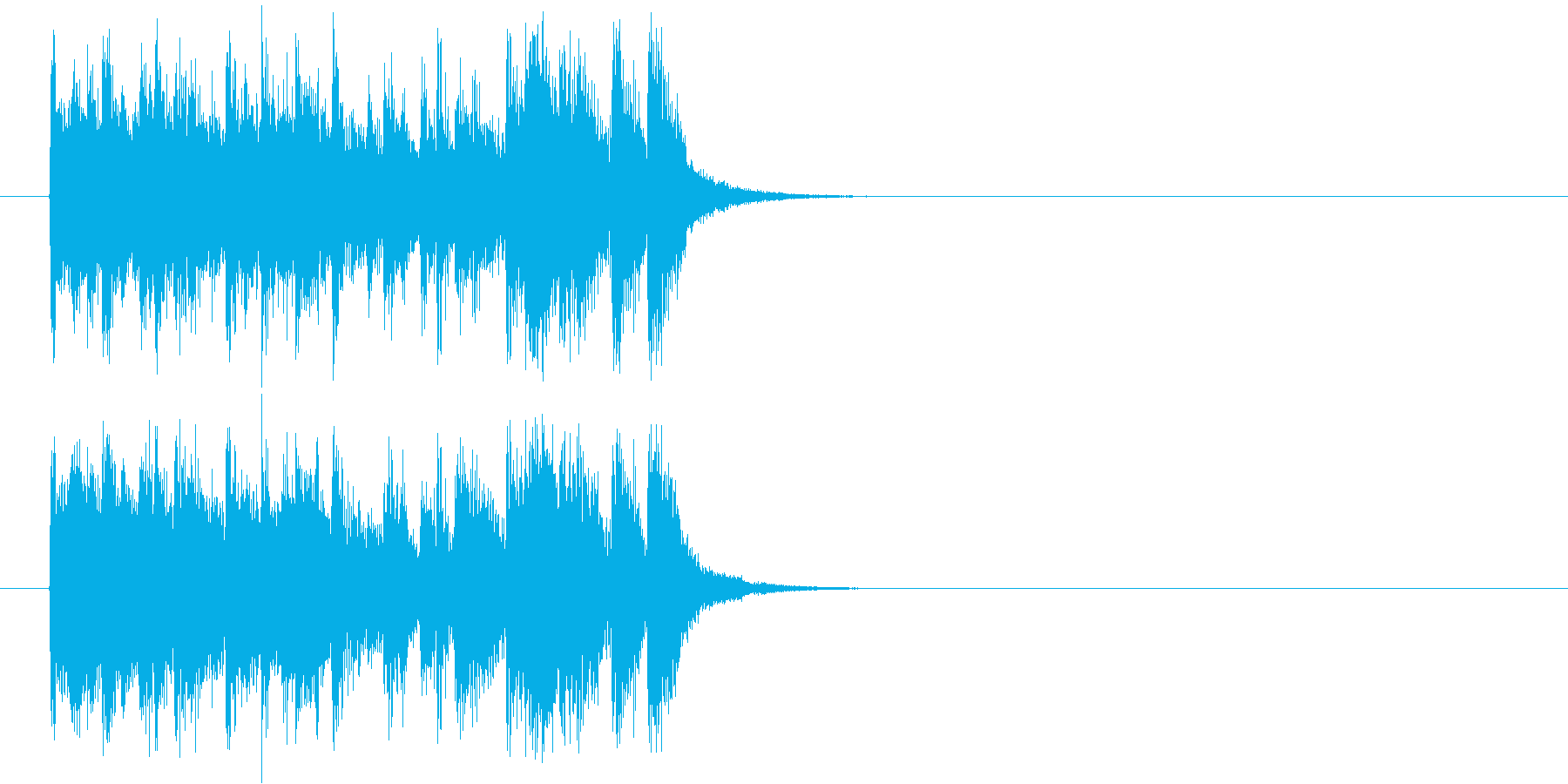 ジングル(場面転換)の再生済みの波形