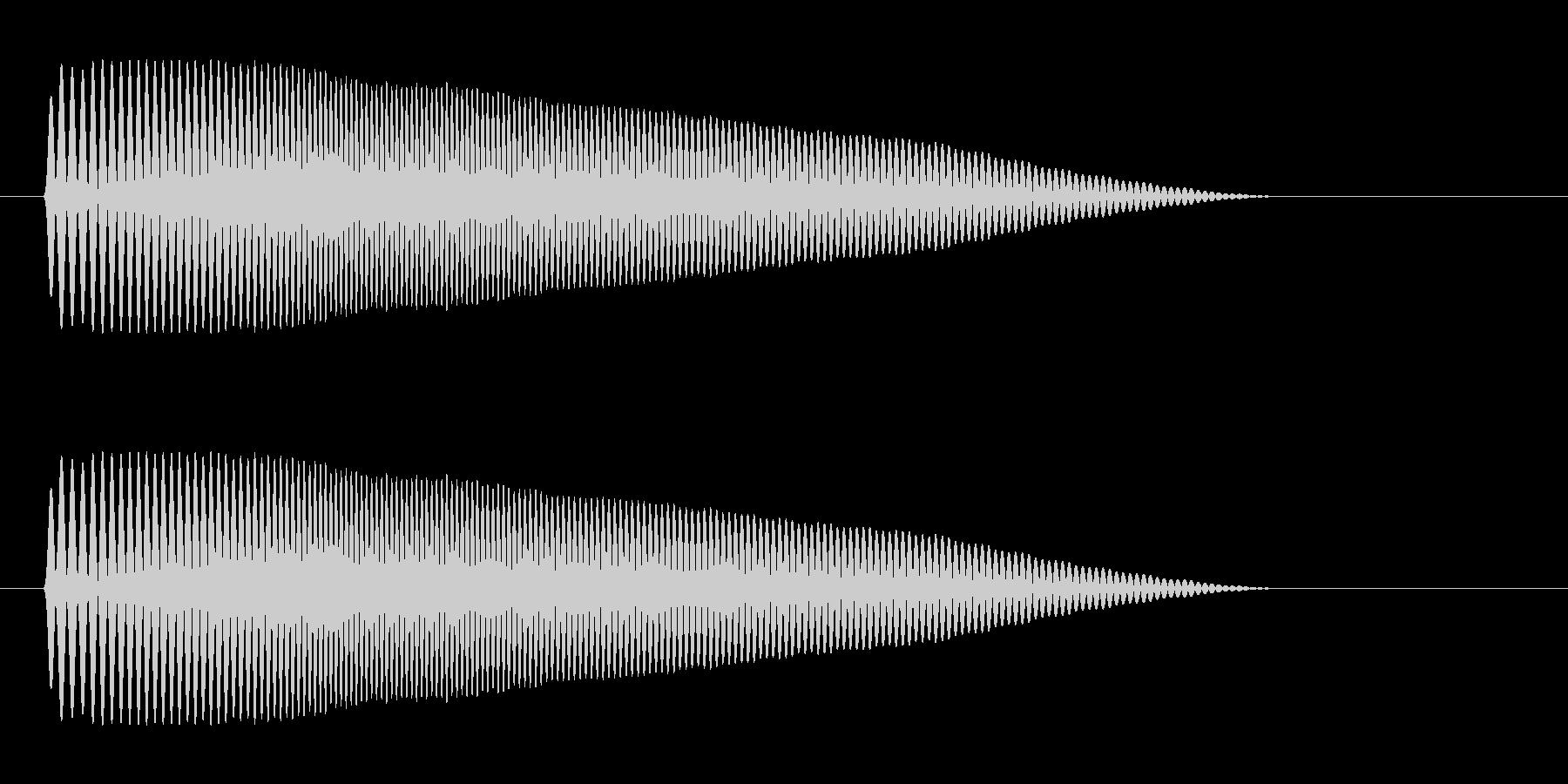 ポヨーンというコミカルで柔らかな音の未再生の波形