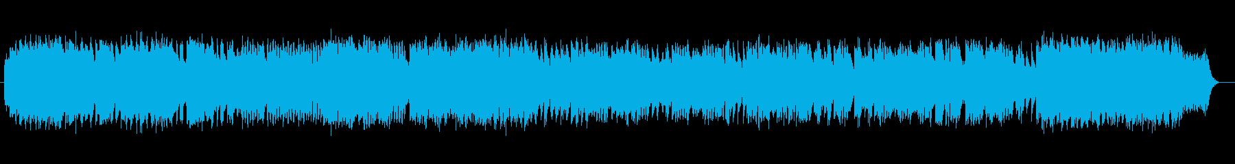 おごそかで少しホラー感のあるオルガン曲の再生済みの波形