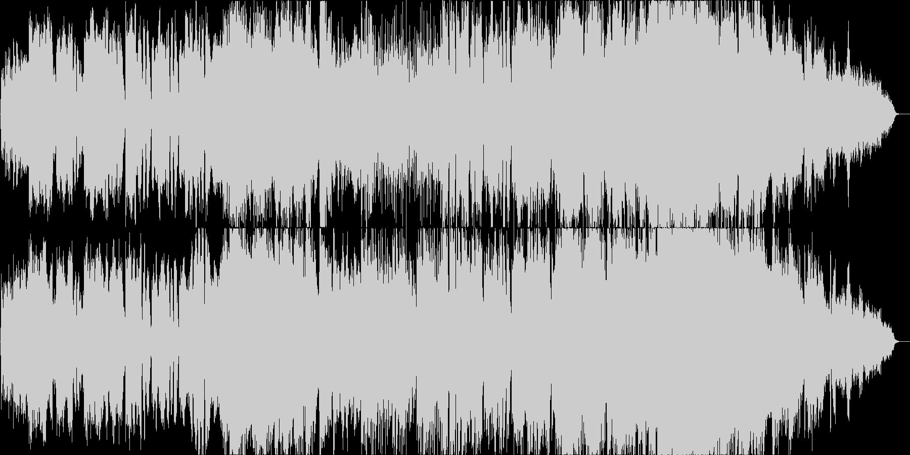 明るくほのぼのとした彩り豊かな二胡の曲の未再生の波形