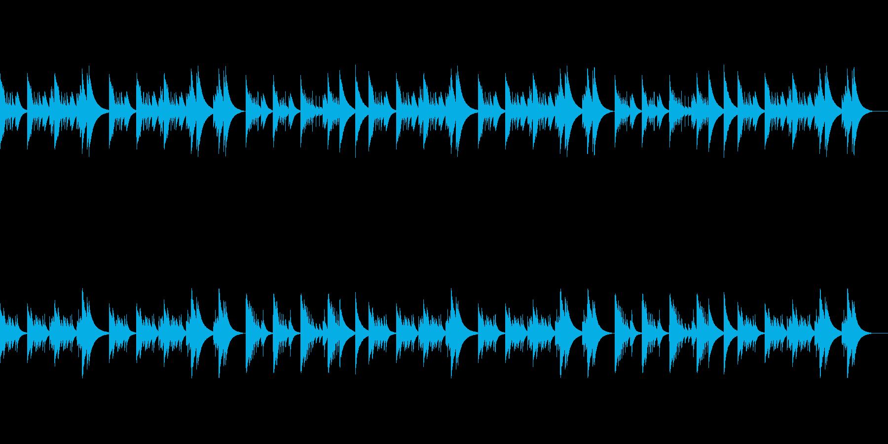さびしげな歌メロ感のあるオルゴールBGMの再生済みの波形