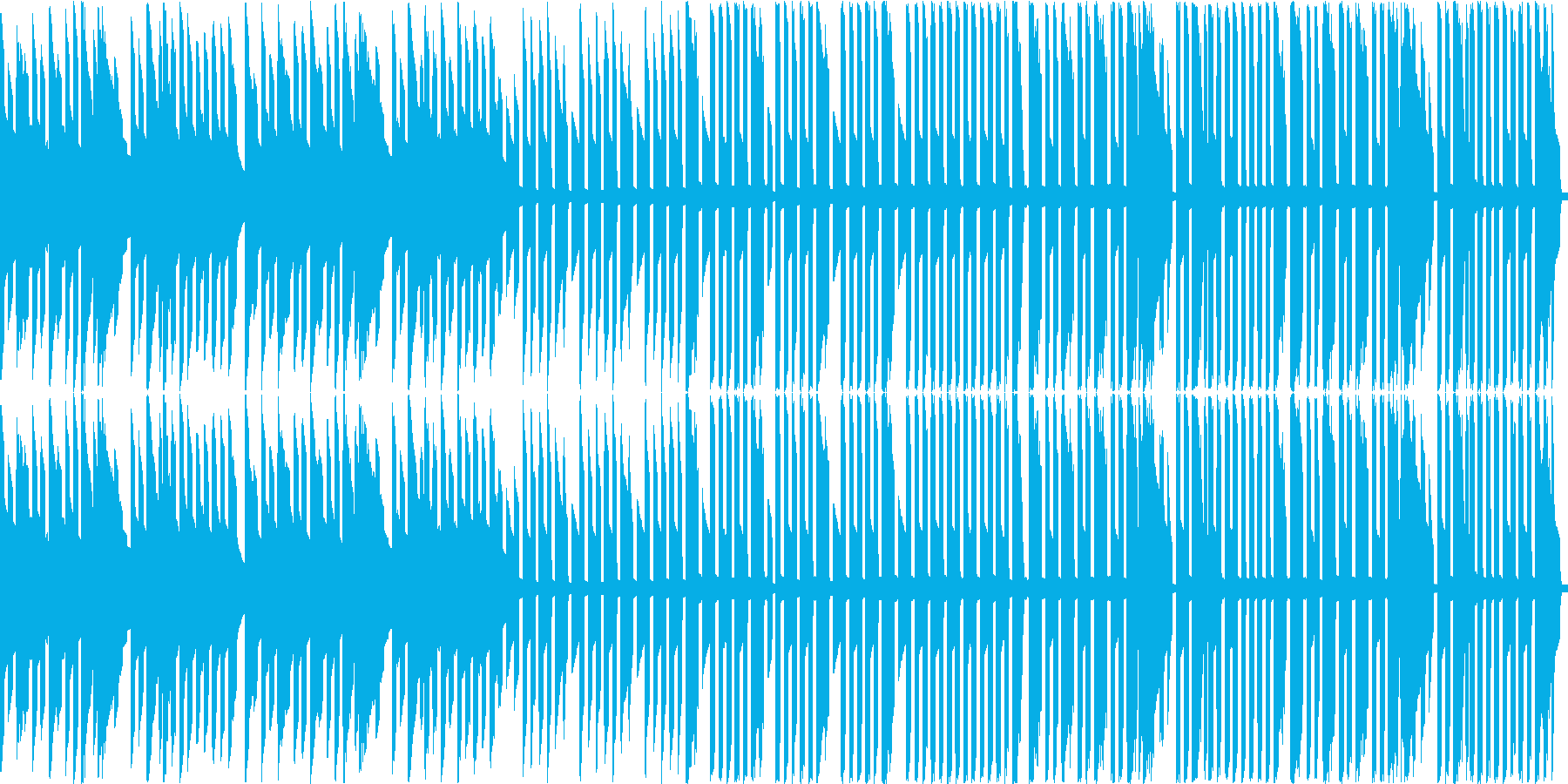ジングルベル(ピコピコ3音アレンジ)の再生済みの波形