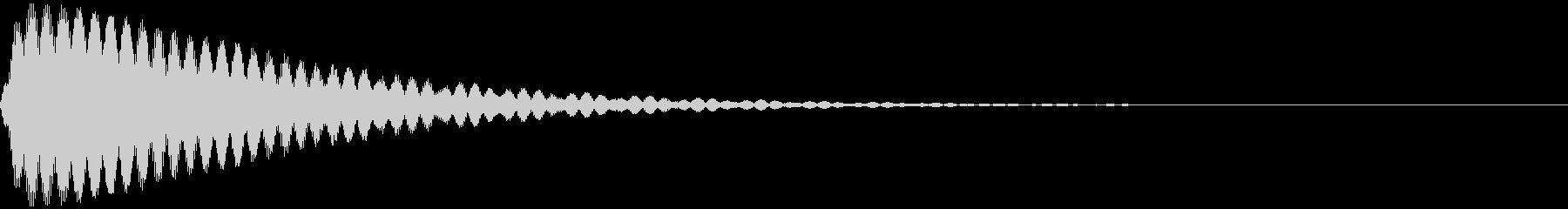決定、ロゴ、タイトルの未再生の波形