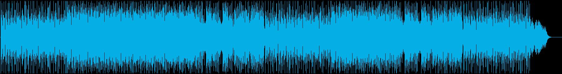 軽快で明るいメロディーのBGMの再生済みの波形