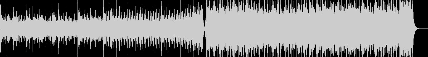 明るくアップテンポなEDM、ハウス曲の未再生の波形