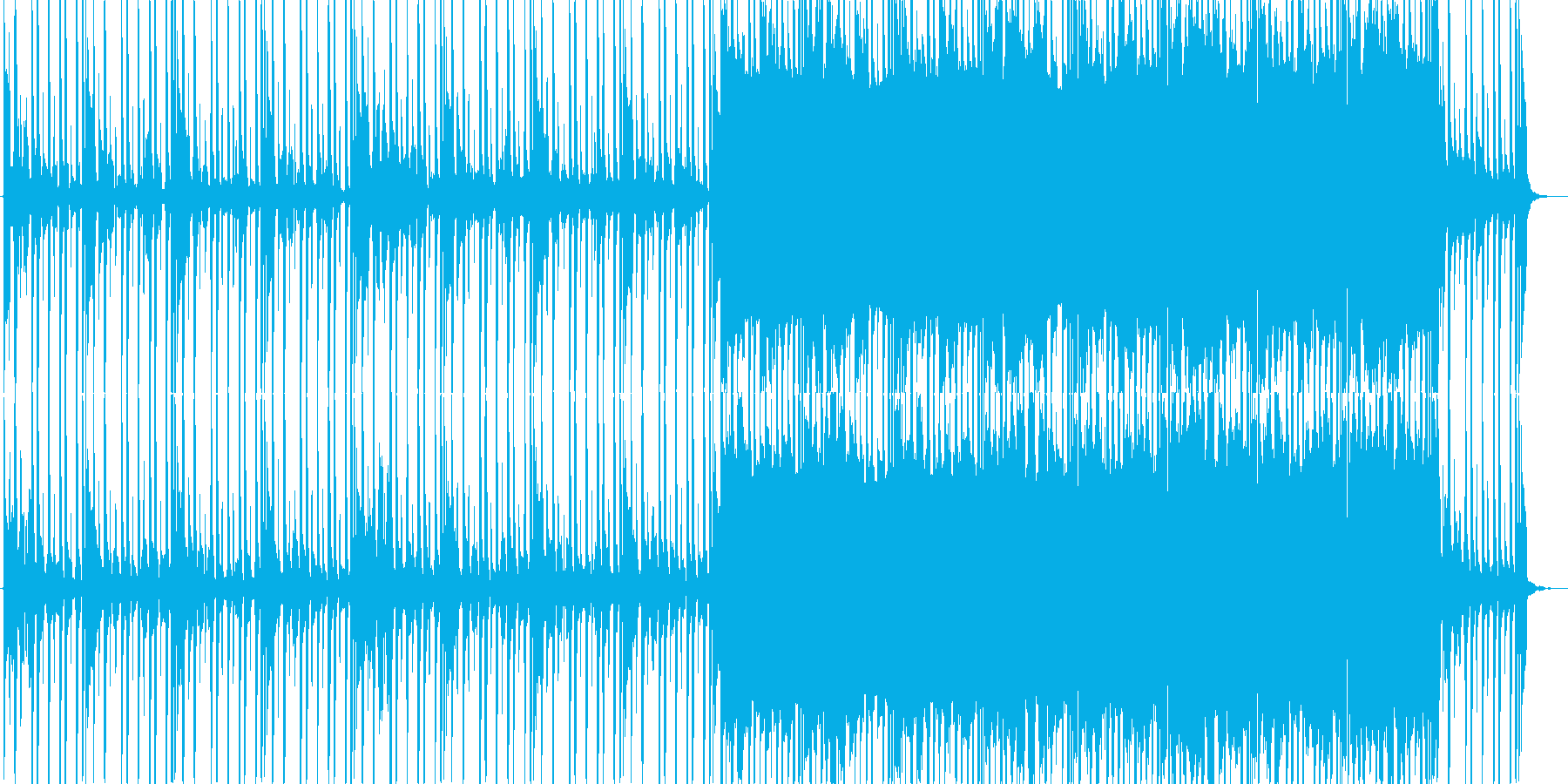 クールで綺麗な物悲しいBGMの再生済みの波形