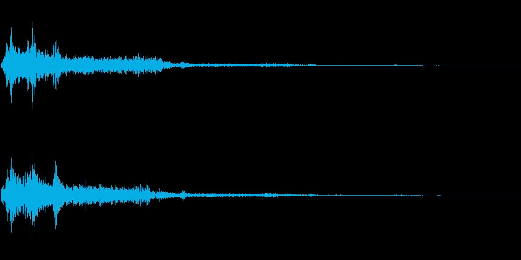 チャッ(タイピング音)の再生済みの波形