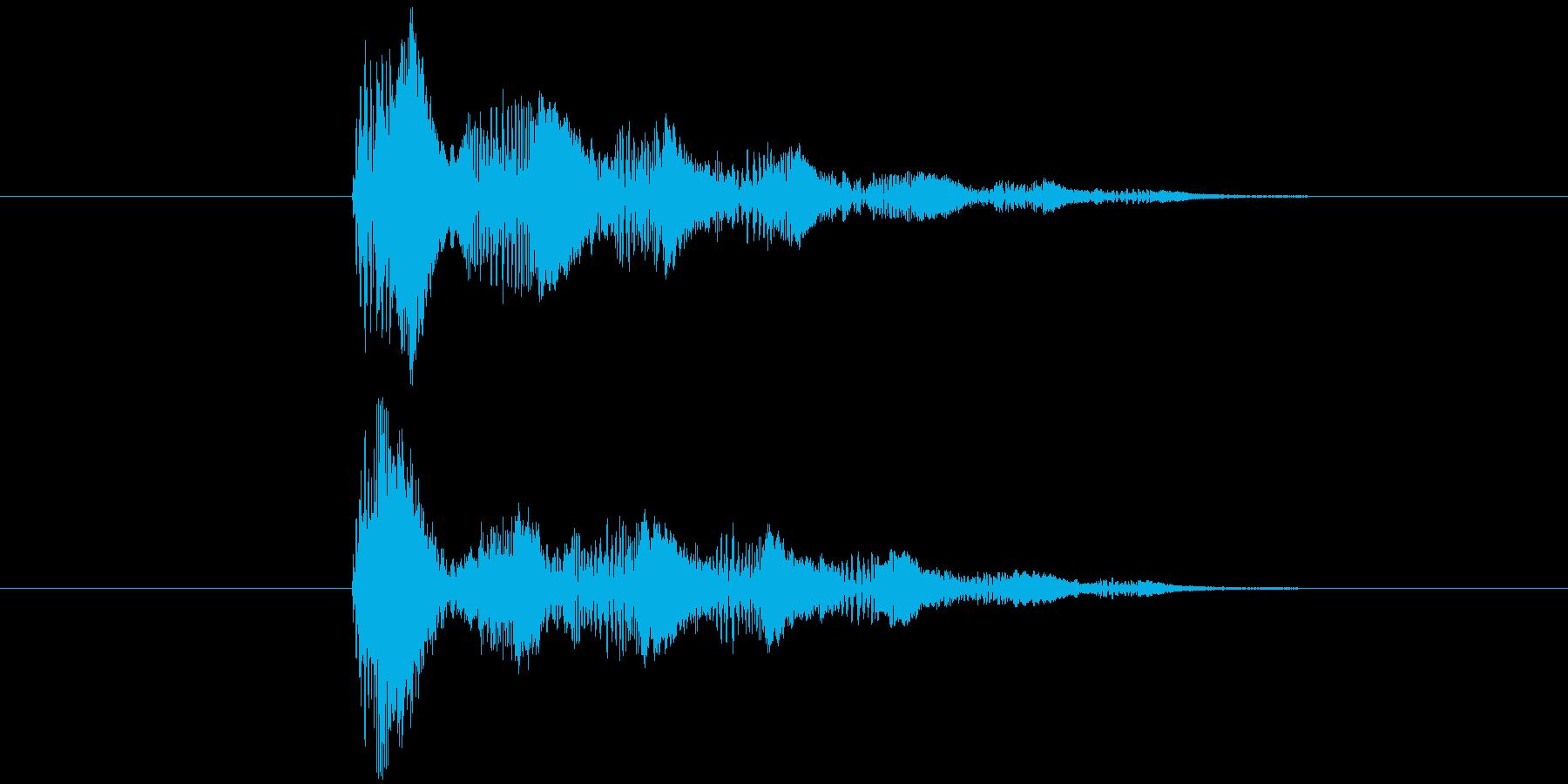 消滅音(スライム・ゼリー)の再生済みの波形