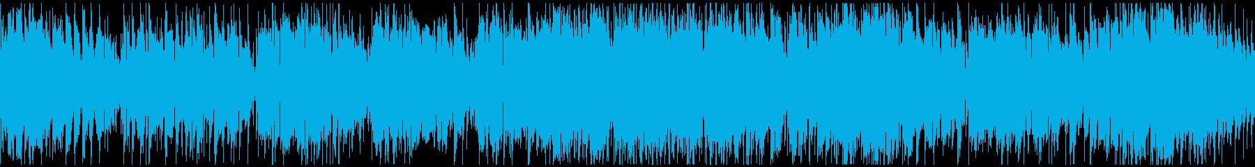 軽快なジャズワルツ ※ループ仕様版の再生済みの波形