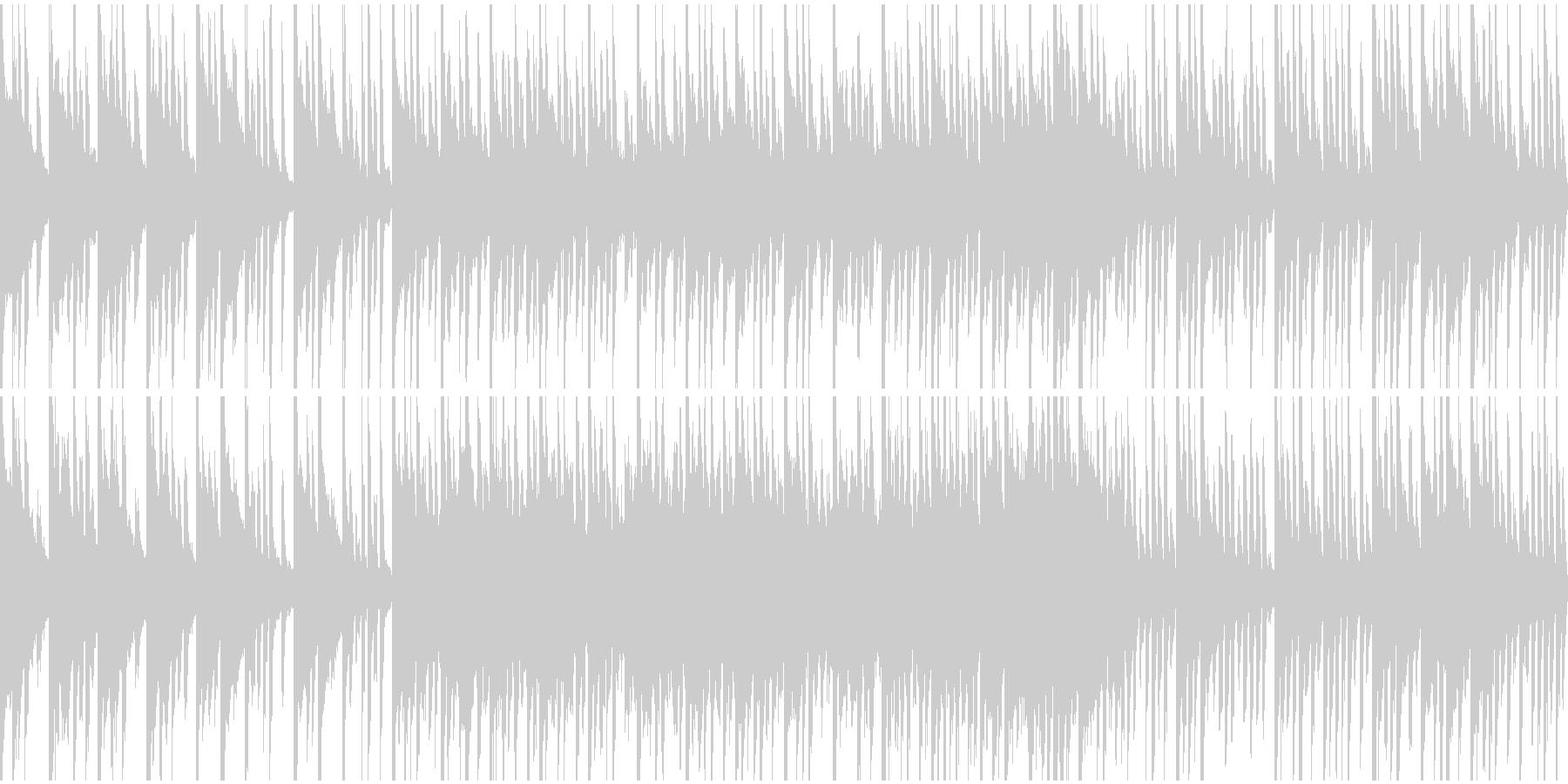 クリスマスのBGM(ループ)の未再生の波形