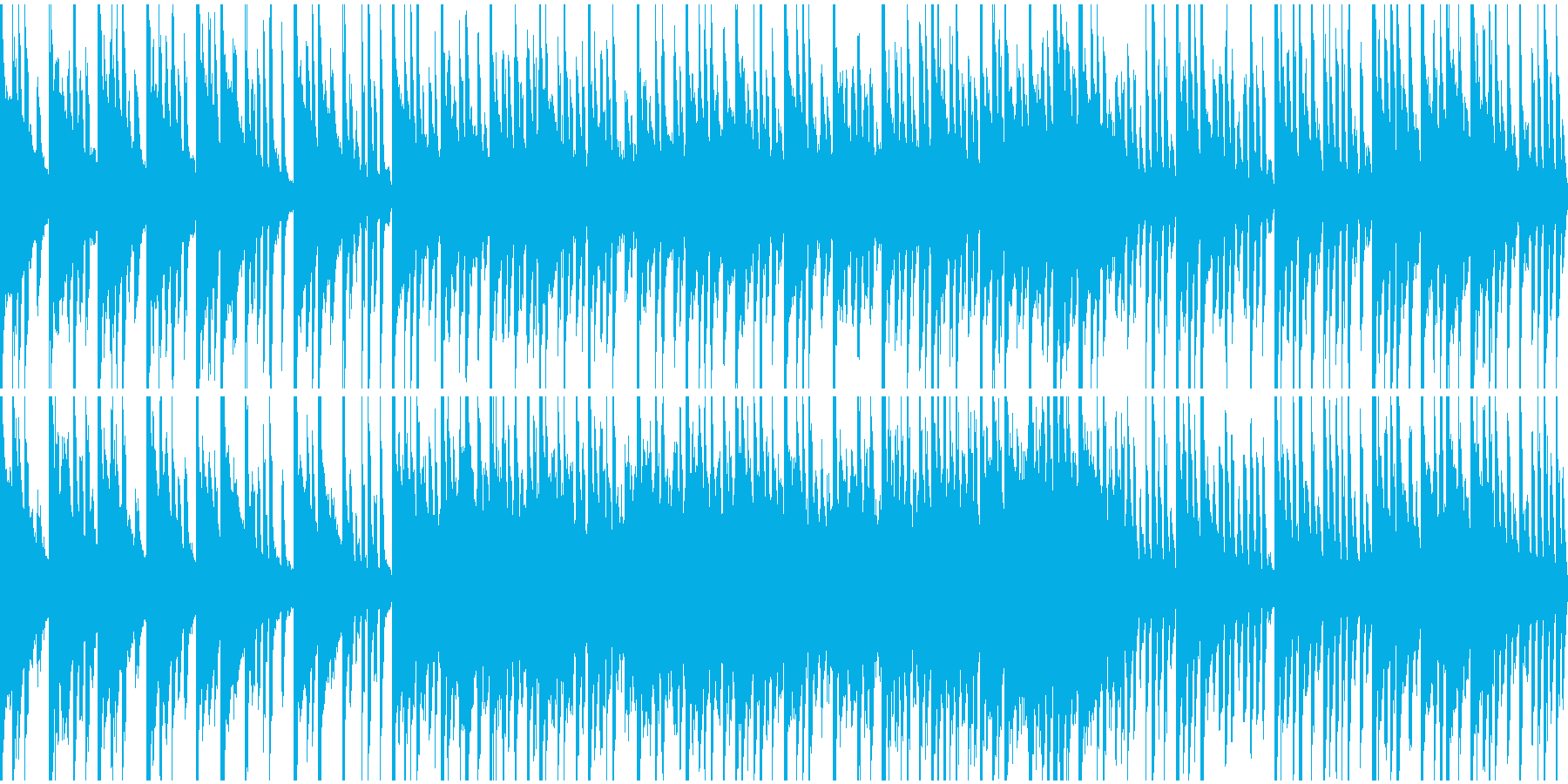 クリスマスのBGM(ループ)の再生済みの波形
