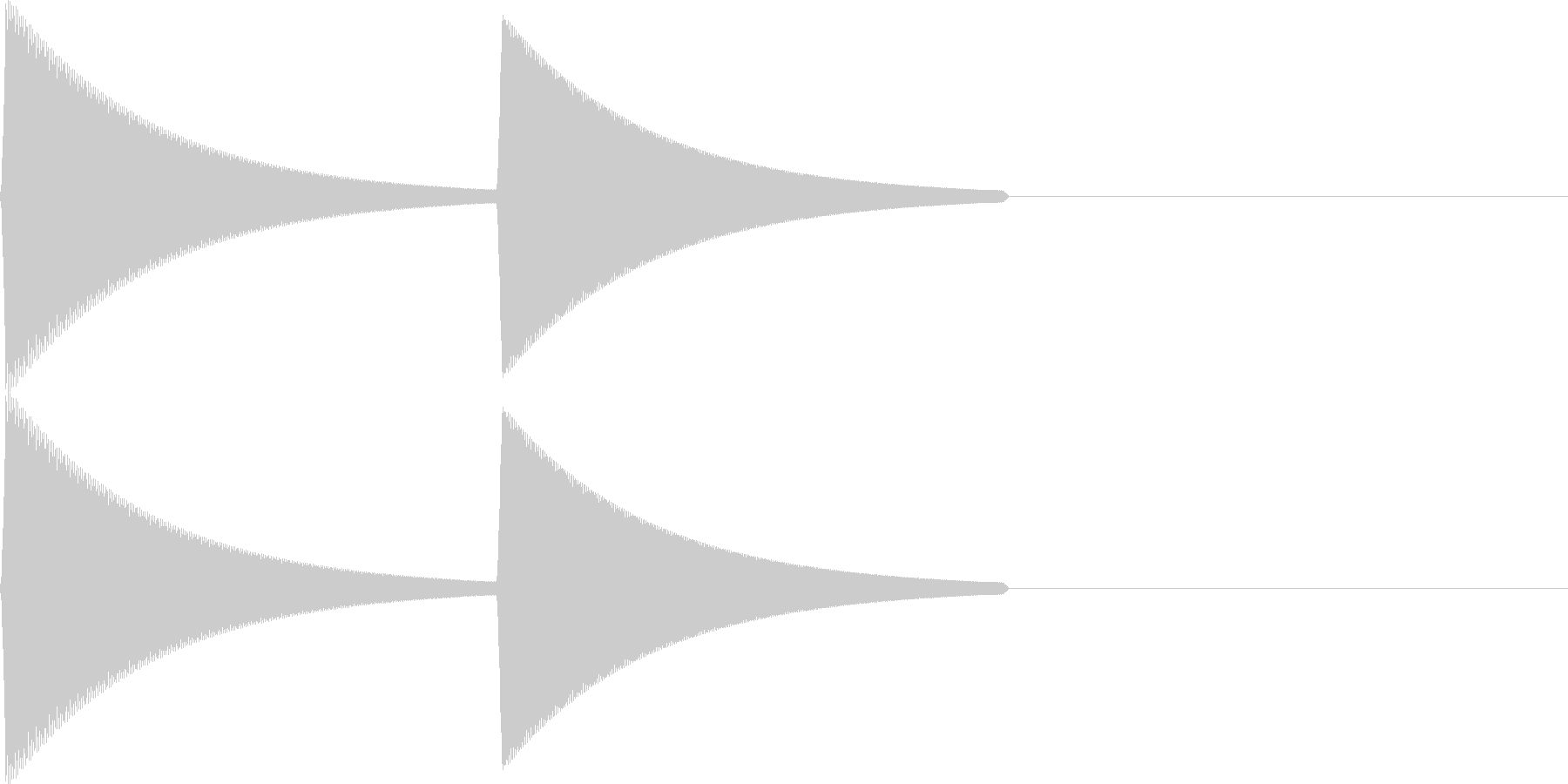 【SE】決定音12(ピプ)の未再生の波形