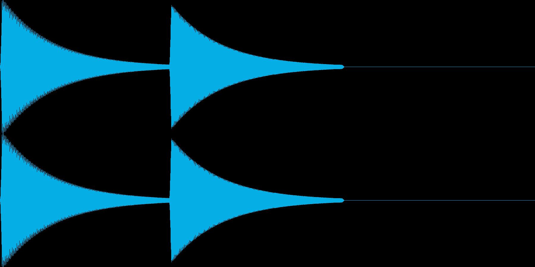 【SE】決定音12(ピプ)の再生済みの波形