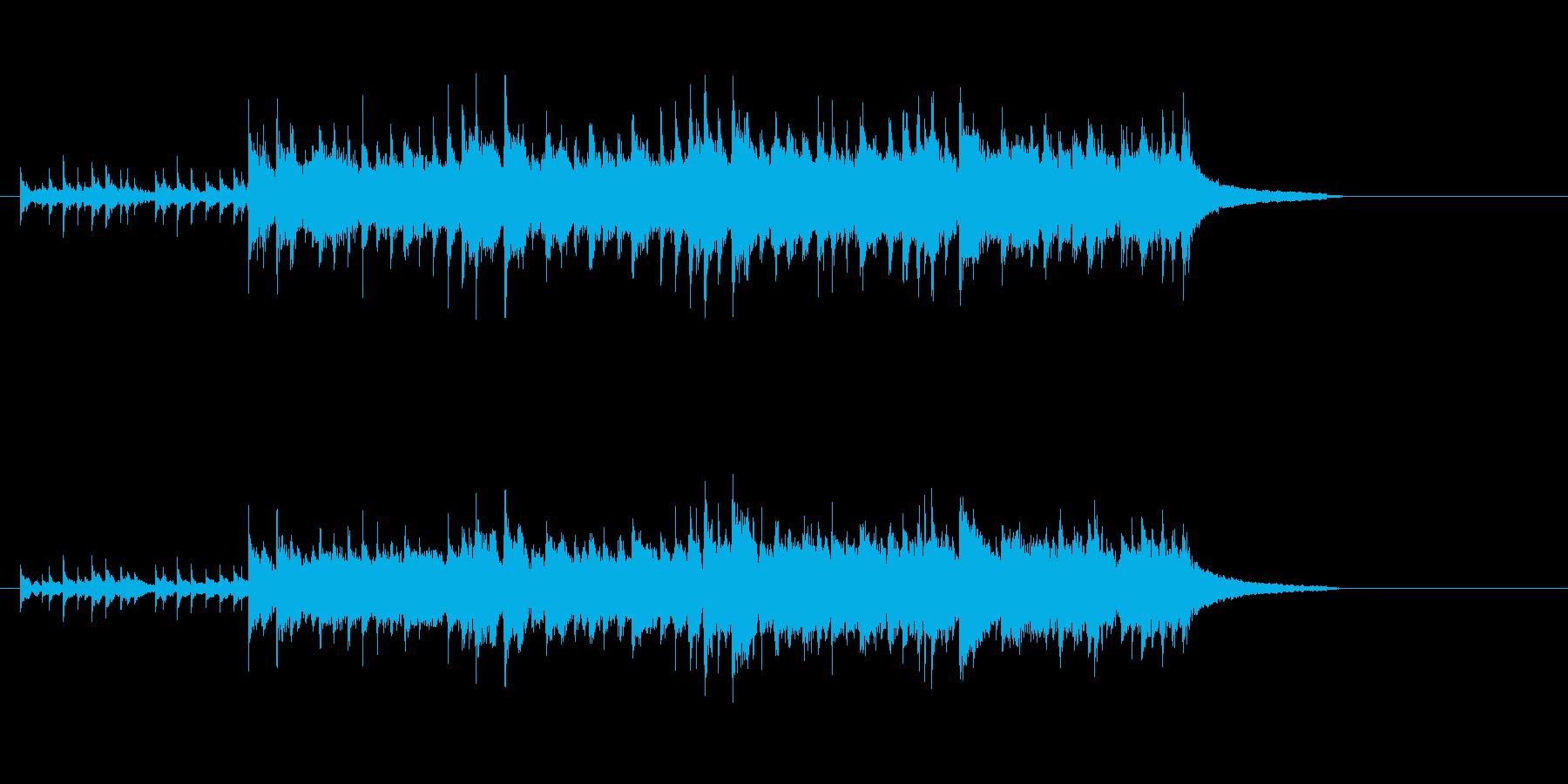 民族音楽風(バグ・パイプ調)の再生済みの波形