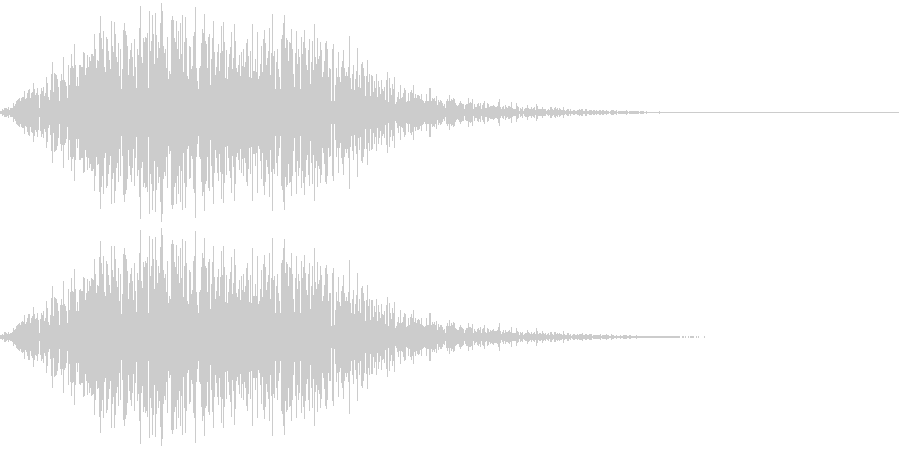 ヲォーーーーー(不穏、合唱)の未再生の波形