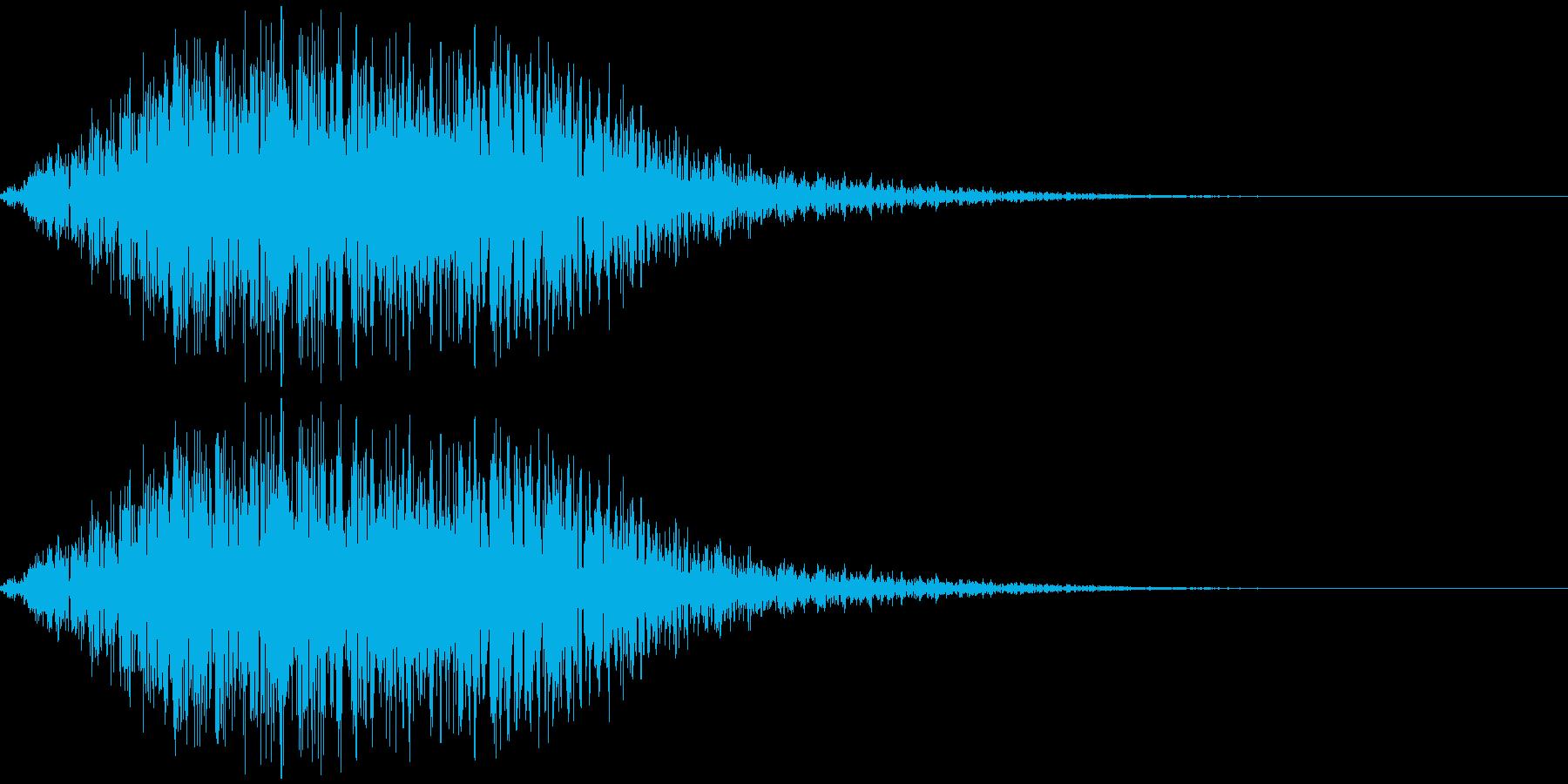 ヲォーーーーー(不穏、合唱)の再生済みの波形